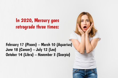 mercury in retrograde dates for the year 2020